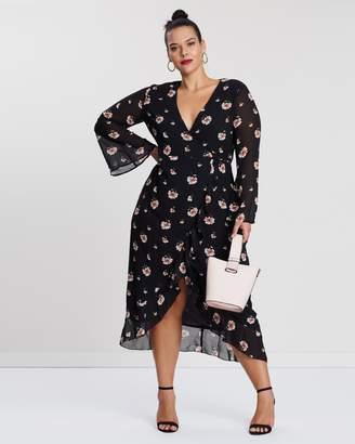 Floral Ruffle Hem Midi Dress