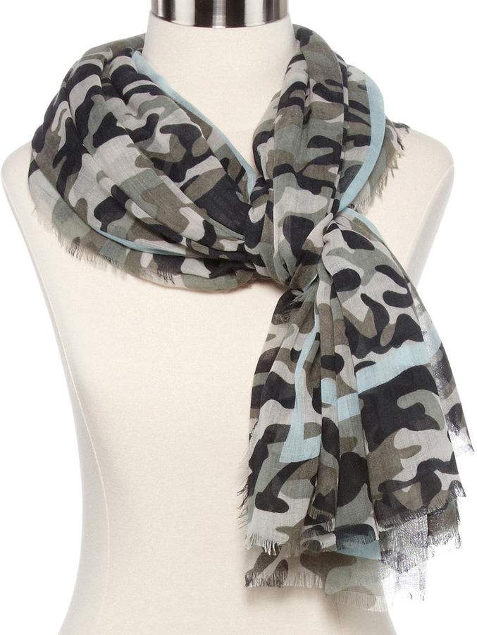 JCPenney OLSENBOYE Olsenboye Camouflage Print Striped Scarf