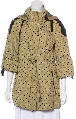 RED Valentino Polka Dot Hooded Coat