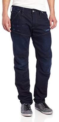 G Star Men's 5620 3D Low Tapered Leg Jean in Deill Stretch Denim Dk Aged