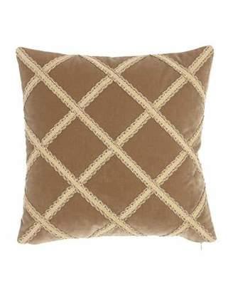 "Austin Horn Collection Renaissance Velvet Pillow, 20""Sq."