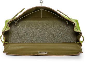Hermes Rouge Box Kelly Satchel Bag