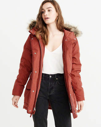 Abercrombie & Fitch Faux Fur Hooded Puffer