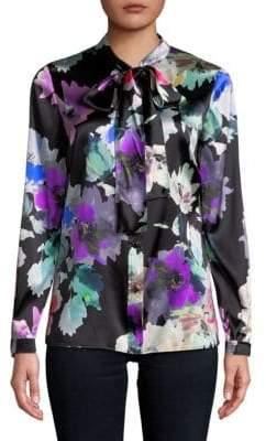 St. John Floral Button-Down Shirt