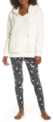 COZY ZOE Hooded Fleece Tunic & Leggings Set
