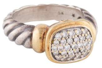 David Yurman Diamond Two-Tone Noblesse Ring