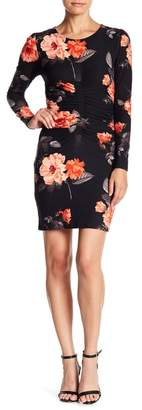 Planet Gold Floral Scoop Neck Bodycon Dress