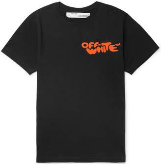 Off-White Logo-Print Cotton-Jersey T-Shirt