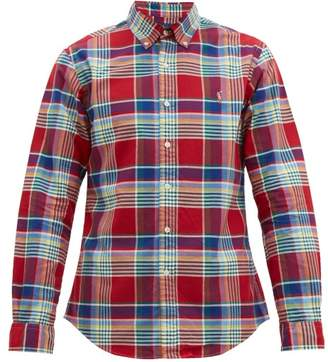 Polo Ralph Lauren Slim Fit Checked Cotton Shirt - Mens - Red