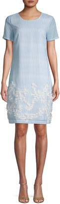 Karl Lagerfeld Paris Embroidered Lace Shift Dress