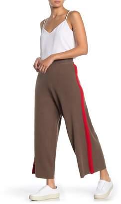 J.o.a. Side Stripe Wide Leg Knit Pants