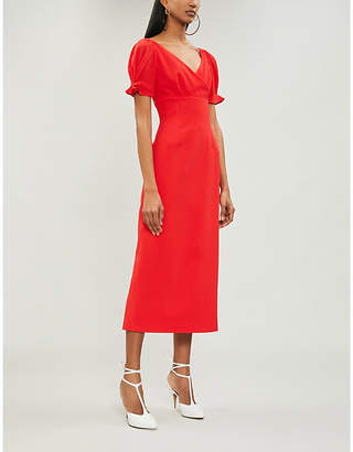 Emilia Wickstead Karinette V-neck crepe midi dress