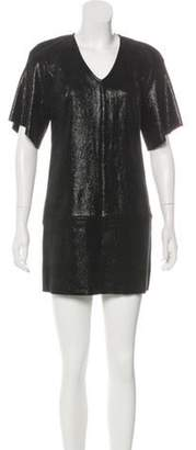 Jitrois Suede Mini Dress Black Suede Mini Dress