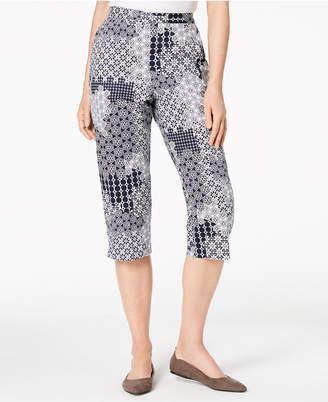 Alfred Dunner Petite Printed Capri Pants