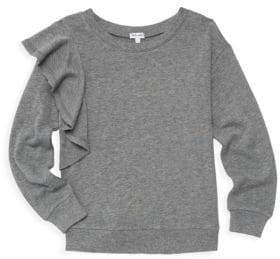Splendid Girl's Ruffle Sweatshirt