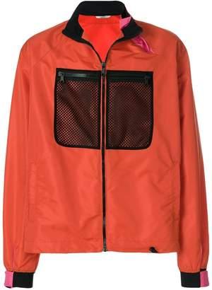 Valentino mesh chest panel detail jacket