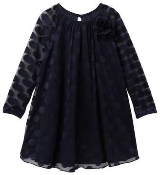 Pippa Pastourelle by and Julie Polka Dot Burnout Dress (Toddler & Little Girls)