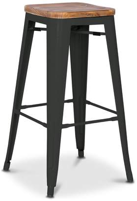 Apt2B Grand Metal Bar Stool- Set of 4 BLACK