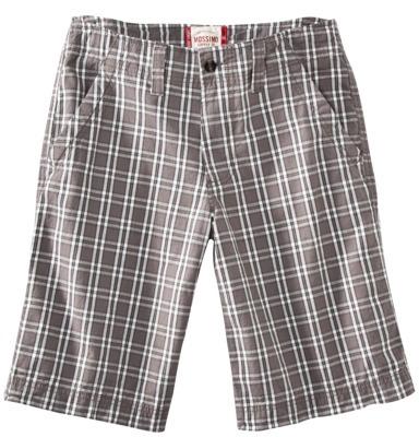 Mossimo Men's Plaid Short - Gray