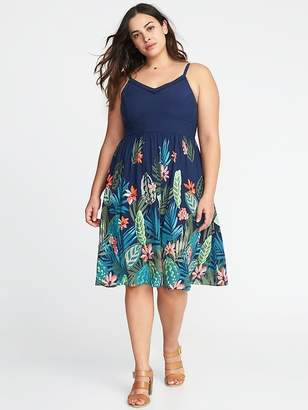 Old Navy Plus-Size Sleeveless Fit & Flare Cami Dress