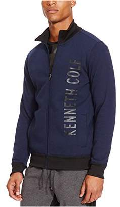 Kenneth Cole Reaction Men's Full Zip Logo Long Sleeve Knit