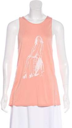 Halston Printed Sleeveless Top