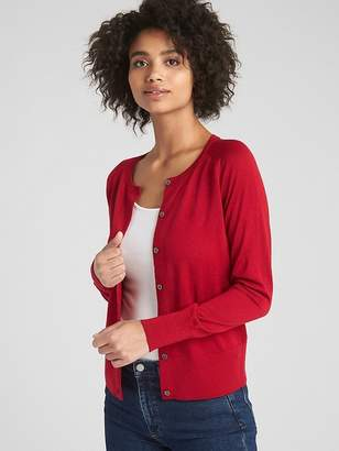 Gap Crewneck Cardigan Sweater in Merino Wool