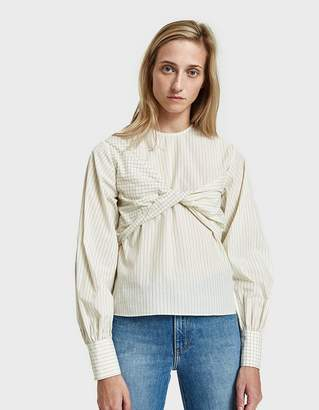 Need Twist Blouse in Ivory/Navy