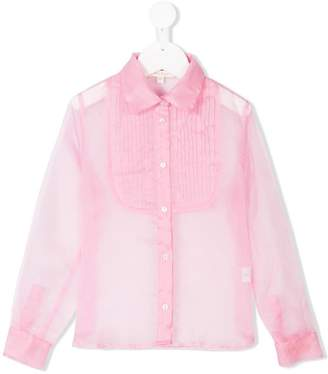 Miss Grant Kids pleated bib shirt