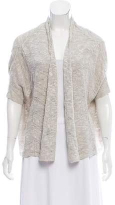 Eileen Fisher Linen-Blend Open-Front Cardigan