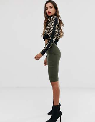 Asos Design DESIGN high waisted pencil skirt