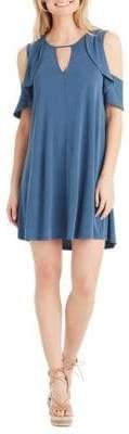 Jessica Simpson Plus Pearlie Cold-Shoulder Dress