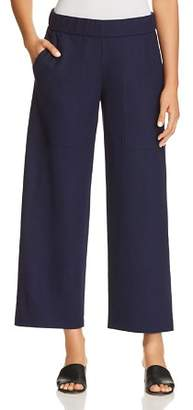 Eileen Fisher Petites Wide-Leg Wool Pants