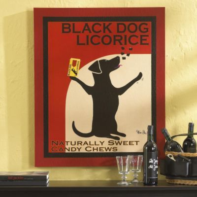 Black Dog Licorice Print
