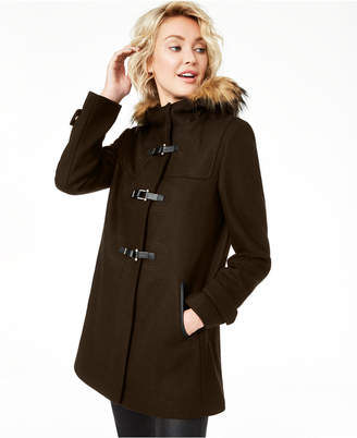 Cole Haan (コール ハーン) - Cole Haan Signature Faux-Fur-Trim Hooded Coat
