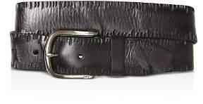 John Varvatos Side Stitch Leather Belt