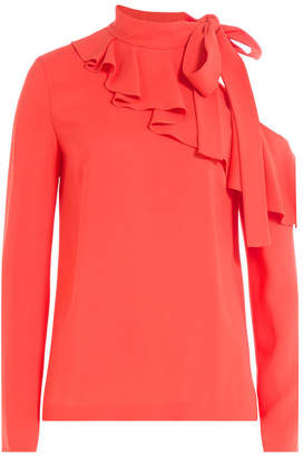 Emilio Pucci Top with Cut-Out Shoulder and Ruffles Front