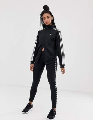 adidas Trefoil Logo Print Legging In Black