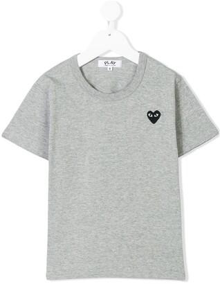 Comme des Garcons Kids heart logo T-shirt