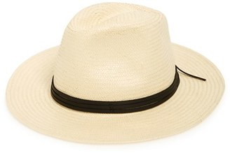 Brixton 'Pacific' Straw Fedora $56 thestylecure.com