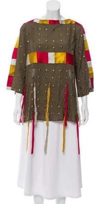 Figue Embellished Long Sleeve Top