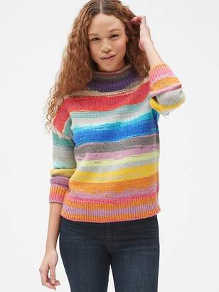 Gap Crazy Stripe Mockneck Pullover Sweater