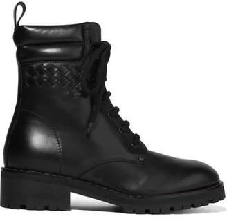 Bottega Veneta Intrecciato Leather Ankle Boots - Black
