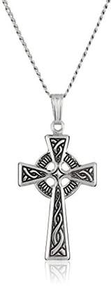 Celtic Sterling Cross Pendant Necklace