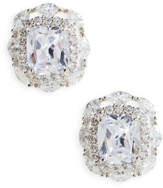 Women's Nina Large Cubic Zirconia Stud Earrings $110 thestylecure.com
