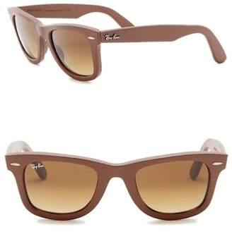 Ray-Ban 50mm Leather Wayfarer Sunglasses