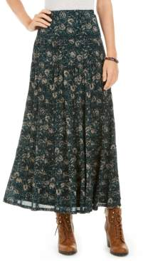 Style&Co. Style & Co Tiered Mesh Maxi Skirt, Created for Macy's