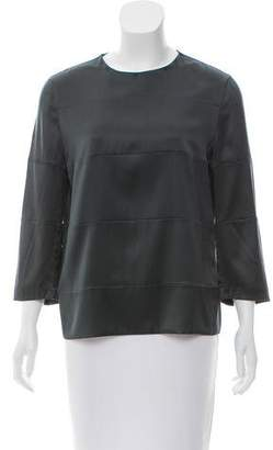 Brunello Cucinelli Silk Long Sleeve Top