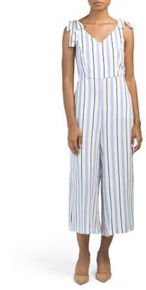 Juniors Multi Stripe Jumpsuit