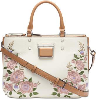 Calvin Klein Dani Floral Leather Satchel